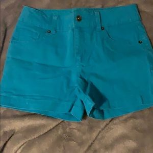 Blue jean shorts. Never worn but no tag.